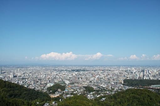 札幌市 北海道 札幌の風景 札幌の町並み 札幌の俯瞰 北海道の風景 北海道の町並み 夏の札幌 札幌