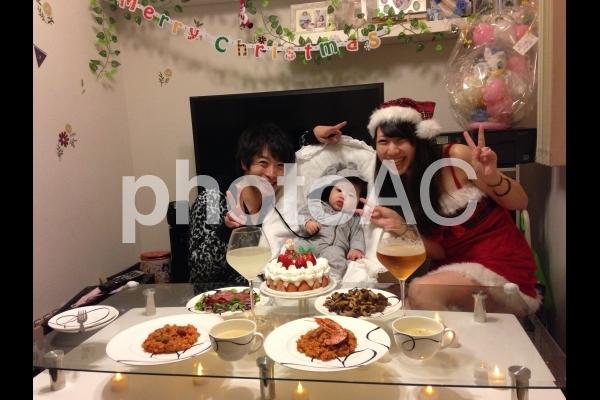 クリスマス 家族の写真