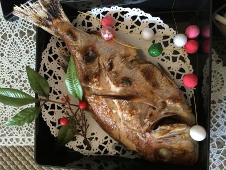 お祝い 鯛の尾頭付き お祝い膳 お食い初め 魚 御百日の祝い 百日の祝い タイ 育児 幸せ 子育て