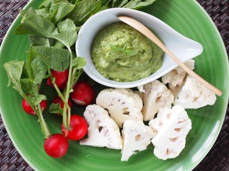 ラディッシュ カリフラワー アボカドディップ アブラナ科 美 フレッシュ野菜 サラダ 酵素