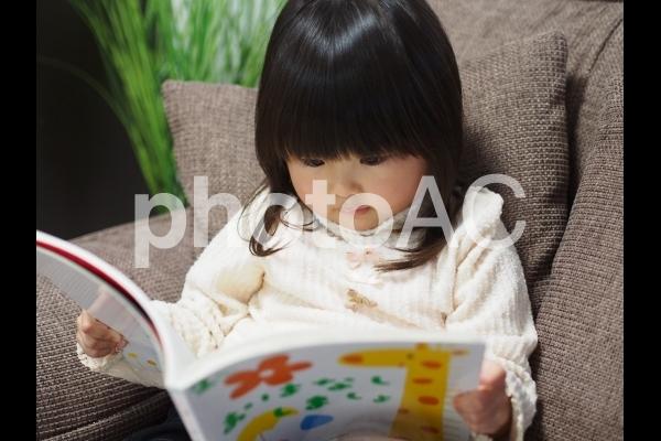 本を読む女の子1の写真