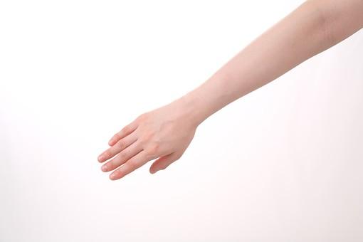 手 ハンド ハンドパーツ 人物 女性 背景 白 白背景 白バック 切り抜き パーツ ボディパーツ 腕 指 手首 ジェスチャー 身ぶり 仕草 肌 余白 シンプル コピースペース 片手 広げる 手の甲 ハンドサイン ストップ 禁止 停止 止める 止まれ 上げる 下げる 右手 伸ばす 差し伸べる 助ける 助け