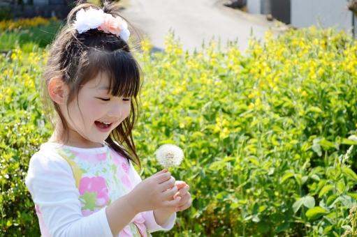 綿毛 こども 女の子 子ども 子供 笑顔 mdfk023