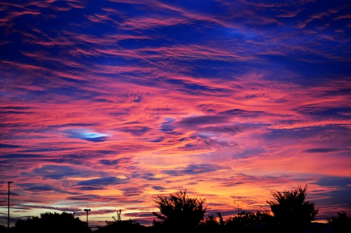 朝焼け空の写真