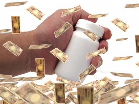 お金がかかる 薬の写真