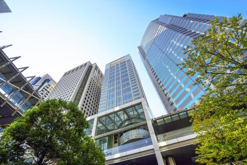東京 品川 日本 ビル群 ビル オフイス オフィス街 高層ビル 高層建築 港区 品川区 街並 港南 青空 青 快晴 ビジネス街 ビジネス