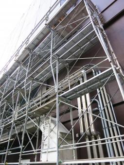 工事 ダクト 東京タワー 14 パイプ ビル 施工 現場 塗装 建設 建築 足場