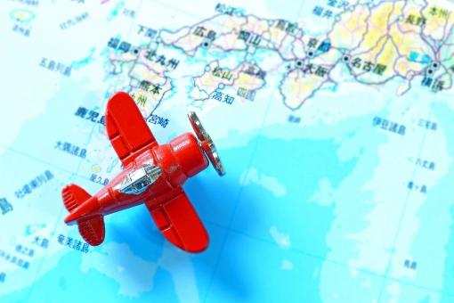 飛行機旅行の写真