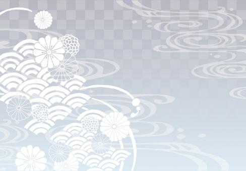 そげ soge 青海波文様 青海波 せいがいは 模様 紋様 文様 和柄 和模様 和紋様 和文様 地紋 和紋 波模様 着物 海 河 川 川面 水 水面 波 線 流水 流水紋 菊 菊模様 菊紋様 菊文様 菊紋 菊柄 花 花模様 花文様 花紋 花紋様 組紐 くみひも 組み紐 組みひも 市松 市松模様 チェック チェッカー 綺麗 きれい キレイ 美しい 風流 雅 飾り 高級 華やか 上品 wave water chrysanthemum pattern beautiful japanese check 和素材 素材 パーツ ごあいさつ ご挨拶 あいさつ 挨拶 グラデーション gradation 銀 灰色 グレー シルバー silver gray フレーム 背景 枠 飾り枠 和風 和