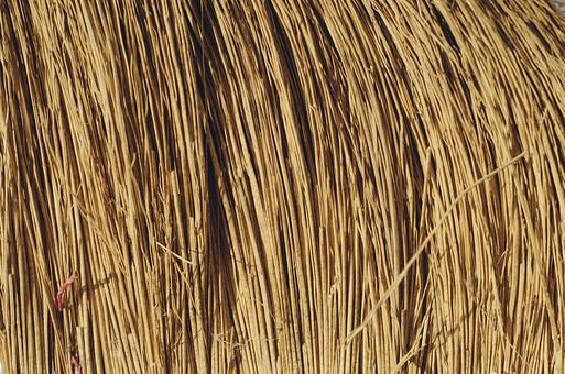 テクスチャ テクスチャー 素材 壁紙 背景 パターン バック バックグラウンド 藁 稲 小麦 茎 乾燥 干し草 工芸 日用品 ほうき 箒 束 連続 縦じま 自然 天然 ナチュラル エコ