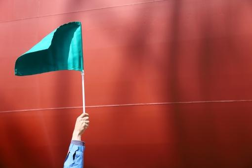 手旗信号の写真
