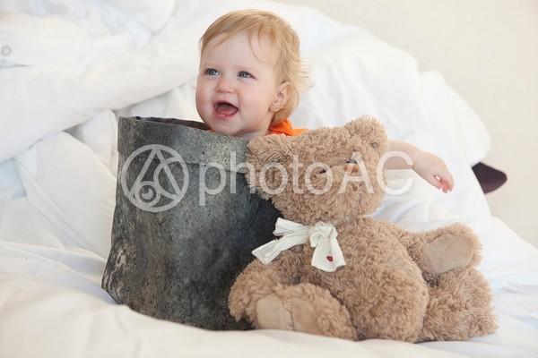 入れ物に入った赤ちゃん10の写真