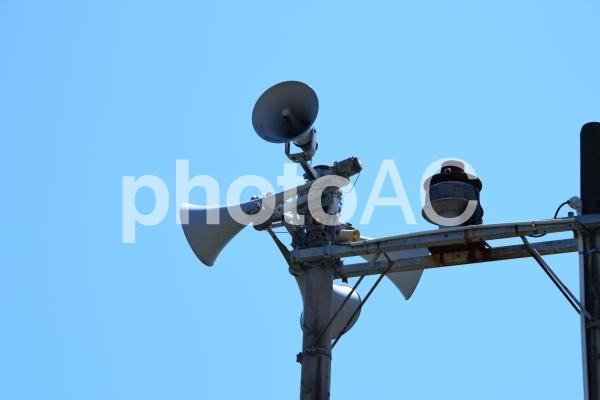 屋外スピーカーの写真