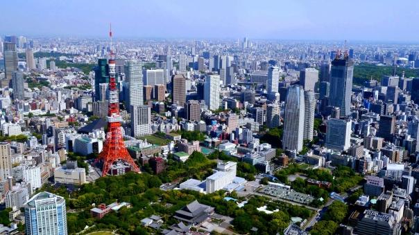 東京 東京タワー 都会 景色 ビル 建物