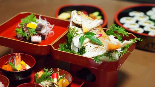 祝い膳 祝い膳 お食い初め 還暦 蛸 鯛 和食 日本食