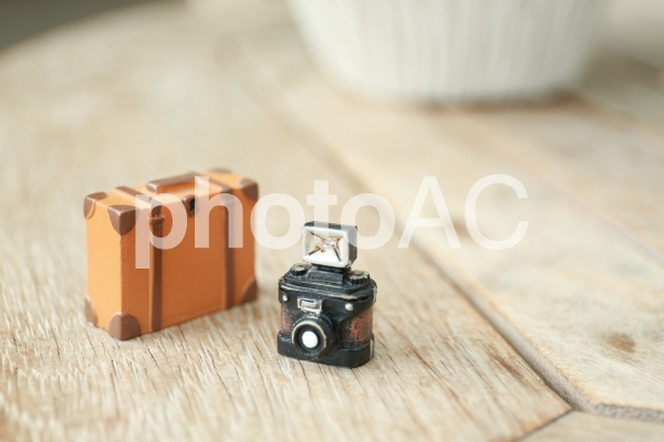 トランクとカメラの写真