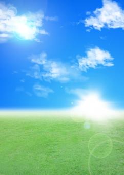 エコロジー イメージ エコ 地球 青空 光 輝き キラキラ きらきら 雲 緑 自然 野原 癒し 環境 温暖化 パンフレット チラシ カタログ 表紙 背景 バック バックグラウンド 素材 CG テンプレート 晴天 フラッシュ 夏