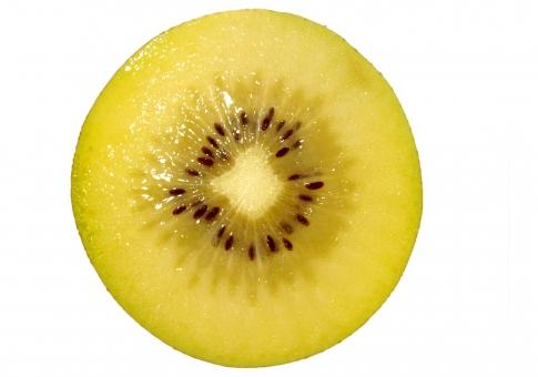 果物 フルーツ 食べ物 茶色 カット 輪切り 青果 切り抜き キウイ 断面 ゴールデンキウイ 背景透過