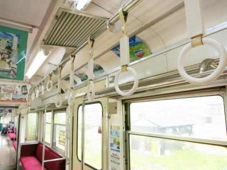 釣り 電車 車内 車窓 シート 銚子電鉄 網棚 窓 てすり 15 つり革 つりかわ 列車