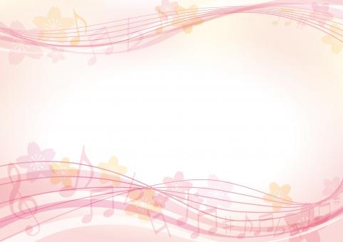 背景 テクスチャ テクスチャー さくら 背景素材 ピンク 模様 ポスター グラフィック ポストカード 柄 デザイン 素材 装飾 イラスト ブックカバー 表紙 デコレーション カバー 春 ノート アルバム 音楽 楽器 ピアノ 音符 ミュージック 桜 記号 本