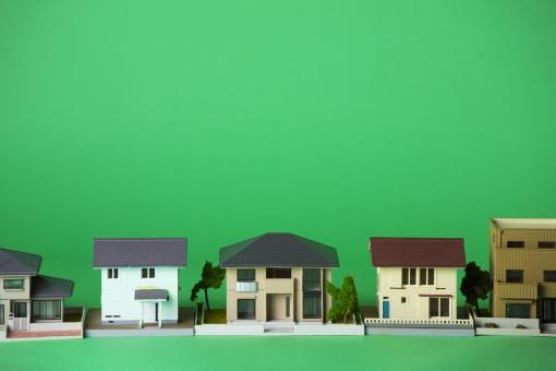 ミニチュアの住宅模型の写真