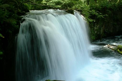 滝 十和田 奥入瀬渓流の写真