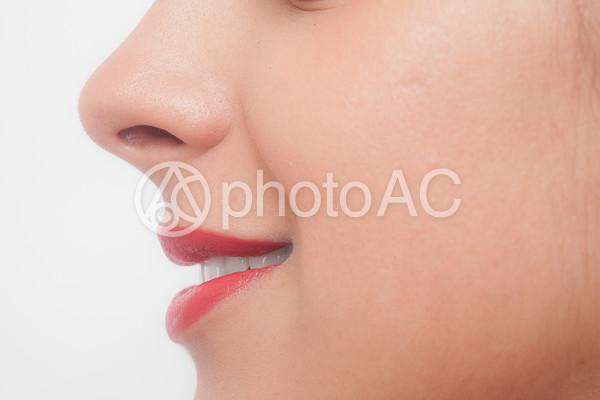 白人女性 顔パーツ口元36の写真