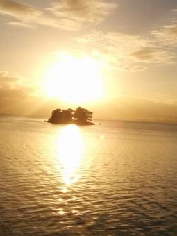 宍道湖 夕日 景色 湖の夕日 自然