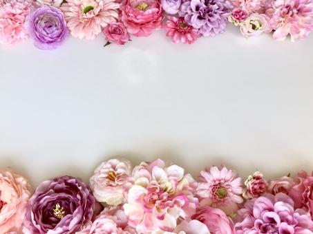 ピンクフラワーフレームの写真