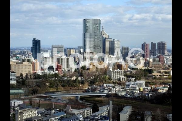 仙台市中心部の街並みの写真
