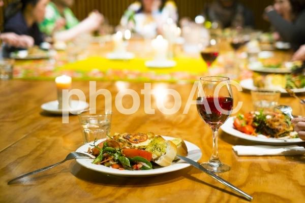 みんなで食事会の写真