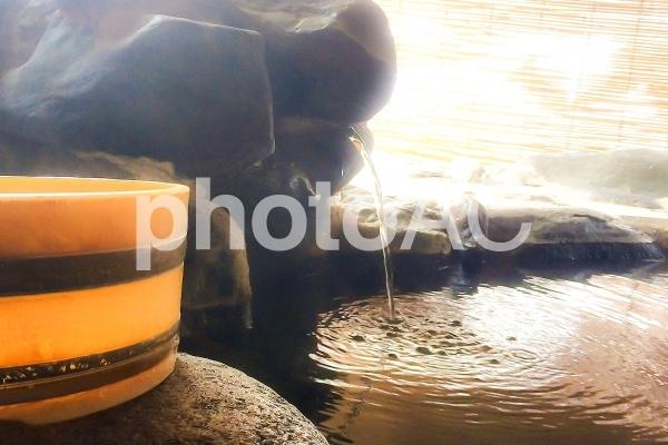 温泉と湯けむりの写真