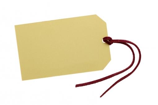 ラベル タグ 荷札 札 値札 プライスカード カード セール 住所 宛名 材料 カラー 色 素材 紙 ペーパー 紙製 質感 紐 糸 ロープ 革紐 結ぶ 模様 コピースペース 余白 空間 空白 スペース 文字スペース テクスチャ テクスチャー スタジオ撮影 レトロ ふだ 荷物 荷造り 白背景 白バック 1枚 一枚 一つ 1つ 白 背景 アップ クローズアップ