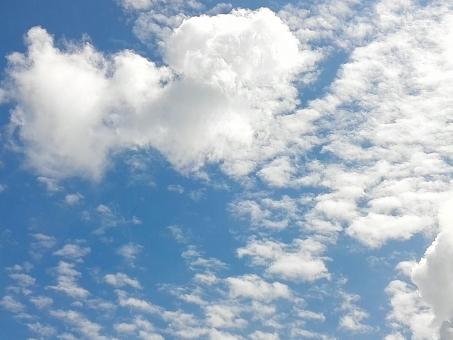 夏空と雲の写真