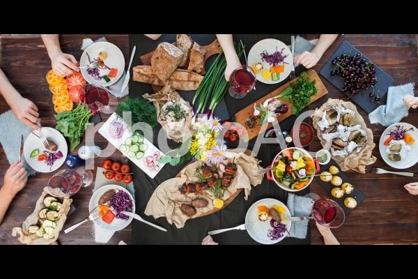 食事風景72の写真