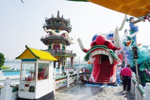 高雄 蓮池潭 春秋閣の龍口の写真
