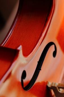 小物 楽器 音楽 弦楽器 バイオリン S字孔 表面 ニス 縦位置 マクロ クラシック オーケストラ コンサート 趣味 演奏会 室内楽 教室 作曲家 四季 ビバルディ サラサーテ パガニーニ