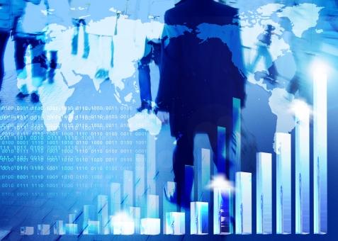 ビジネスマン グラフ 雑踏 世界地図 業績 成績 営業 ニュース 人 人々 青 ブルー 実績 会社 経済 世界経済 日本経済 右肩上がり 経済成長 急成長 人物 トップセールス 棒グラフ ビジネスイメージ 国際経済 国際化 国際的 グローバル インターナショナル 企業
