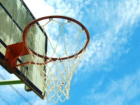バスケットゴールの写真