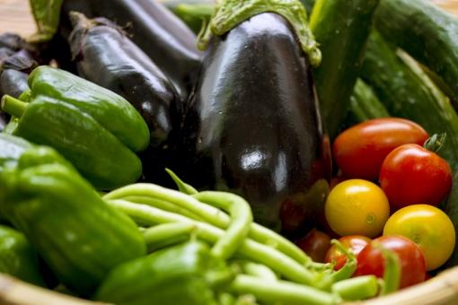 野菜 夏野菜 籠盛り かごもり 野菜集合 ザル ナス なす 茄子 米なす  新鮮 食材 採れたて 美味しい  食べ物 健康 ヘルシー フレッシュ 自然 トマト ミニトマト とまと キュウリ きゅうり さやいんげん サヤインゲン インゲンマメ ピーマン ベジタブル インゲン