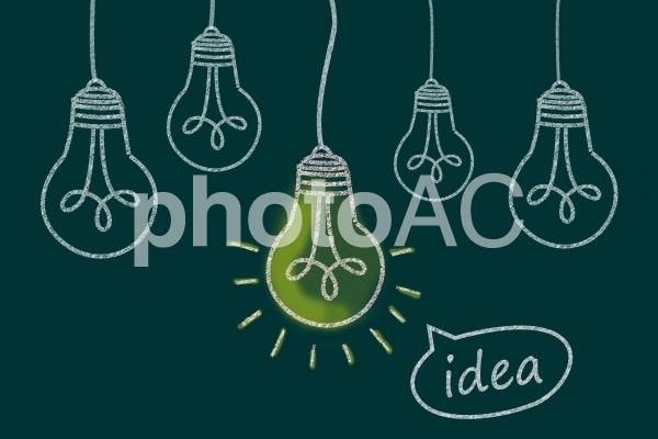 光る豆電球 アイデアの写真