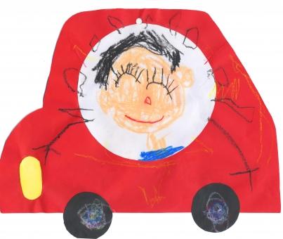 幼稚園 幼児 園児 イラスト 絵 似顔絵 自動車 ブーブー 車 かわいい 男の子 笑顔 3歳 4歳 5歳 6歳 ちびっ子 子ども こども 子供 児童