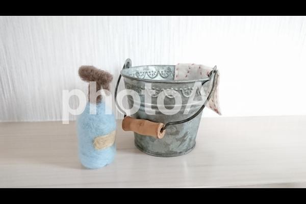 バケツと洗剤 の写真
