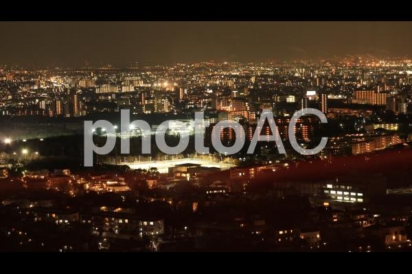 冬の名古屋市の夜景の写真