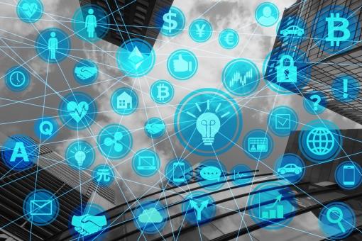 分散化するビジネスネットワークとアイデアの写真