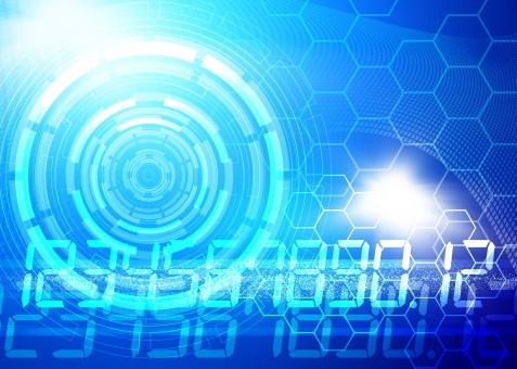 テクノロジー IT 未来 将来 展望 円環 円 サークル 丸い 化学 化学記号 数字 サイエンス 科学 SF 青 ブルー テクスチャー テクスチャ 背景 背景素材 バック バックグラウンド ビジネス 最先端 先端 ニュース 背景デザイン 光 フラッシュ