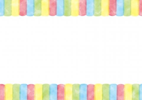 背景 背景素材 素材 水彩 水彩風 カラフル かわいい フレーム 枠 額 額縁 余白 テキストスペース 可愛い おしゃれ 絵の具 こども 子供 虹 虹色 模様 柄 白 行事 イベント