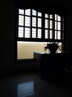 Umer 窓 窓際 窓枠 ガラス 室内 部屋 植物 花 花瓶 生け花 日常 生活 日常生活 タイル キッチン 台 ボード 外壁 プランター 植木 逆光 開く 開ける