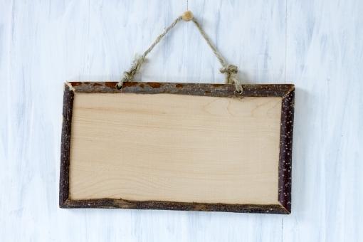 枠 看板 クラフト シャビーボード 板 ビンテージ 白 木目 背景 テキストスペース
