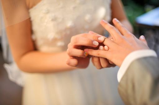 結婚式 指輪交換2の写真